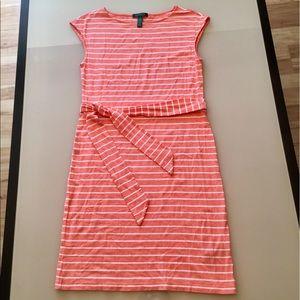 Ralph Lauren Orange Stripe Dress